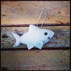 ornamento di Natale di feltro di lana squalo / catena chiave /