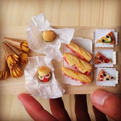 Miniature snacks for the upcoming miniature fair 1 zu 12 Messe in Germany. | Flickr - Photo Sharing!
