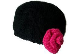 Cloche Hat With Rose Trim - Choose Colour, £14.99