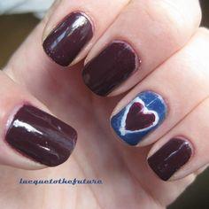 Clueless nails: Tai's tie-dye heart
