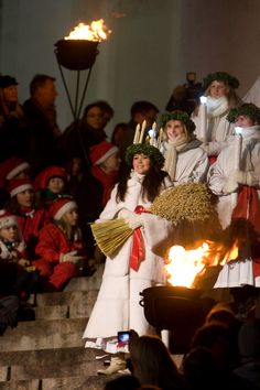 Centuries-old tradition of St. Lucia procession. Her feast is in December.
