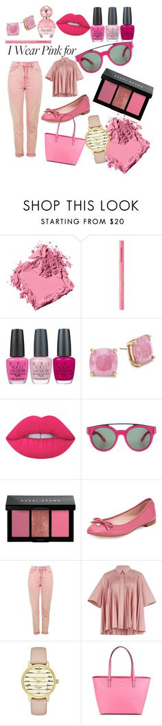 """""""Pretty in Pink"""" by alexandrammarekbeauty ❤ liked on Polyvore featuring Bobbi Brown Cosmetics, Too Faced Cosmetics, OPI, Kate Spade, Lime Crime, Givenchy, Topshop, Roksanda, Marc Jacobs and IWearPinkFor"""