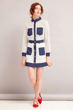 Something a little more 'out there' from Topshop, but as the retailer is currently hosting a Mod Girl collection, we perhaps shouldn't be too surprised to Mod Girl, 1960s Fashion, Spring Outfits, Spring Fashion, Topshop, Dresses For Work, Blouse, My Style, Womens Fashion