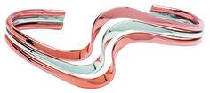 Tianguis Jackson Silver and Copper Triple Twist Torc Bangle - Silver Bangle
