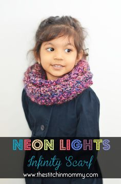 A quick and easy infinity scarf that is perfect for your little one for fall. Made with one skein of yarn, you can also use it as a cowl!