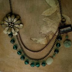 Romantic Emerald and Jade Necklace