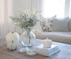 Fall decor, coastal decor, white pumpkins @JSHOMEDESIGN