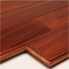 "Santos Mahogany 3/4"" x 4"" x 1-7' Clear - Flooring Flg - Unfinished - Nova USA Wood Products"