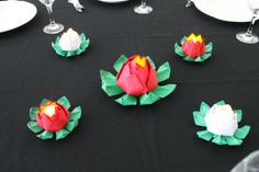 10 Origami Lotus Blossom Centrepiece Sets - 50 Flowers Total - - Great for weddings and formal events! Unique centerpieces that also double as favors!
