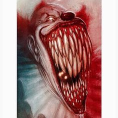 Pennywise Clown Horror, Horror Art, Horror Movies, Art It, Clown Names, Scary Wallpaper, Evil Demons, Wonder Art, Pennywise The Dancing Clown