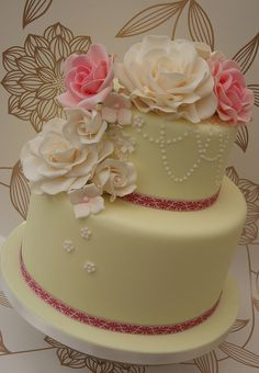 Two Tier Wedding Cake by Cakes by Occasion, via Flickr