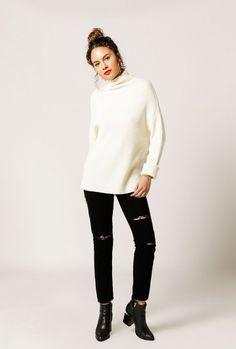 Hi-Lo Turtleneck Sweater