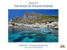 June 21 THE MAGIC OF ITALIAN SUMMER BAMBINO - The Magical Baby Tooth #June21 #Summer #Italy #Bambino #Magic #BabyTooth #Gift #Present #Jewellery #Pendant