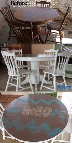 How to Refinish a table, NO sanding! Easy how to! Make an old table new again!