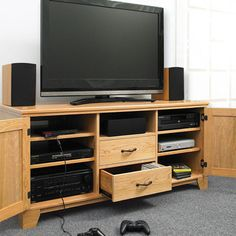 Flat-Panel TV Entertainment Center Woodworking Plan by Woodcraft Magazine