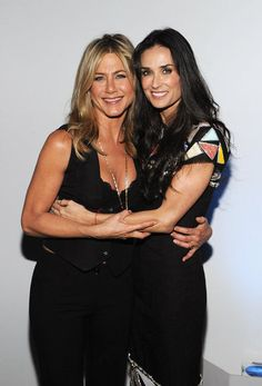 Jennifer Aniston and pal Demi Moore attended the premiere of their film Five in 2011.