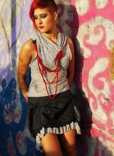 Doll Part set,  Top, dress skirt top silver, Chic