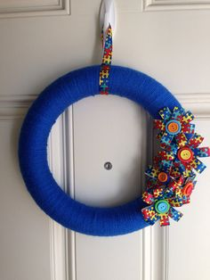 Light It Up Blue - Autism Awareness Wreath on Etsy, $30.00