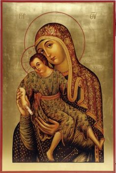 Religious Images, Religious Art, Paint Icon, Russian Icons, Blessed Mother Mary, Russian Orthodox, Holy Mary, Madonna And Child, Orthodox Icons