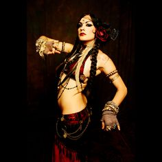 Amazing tribal goddess style.  I want to learn tribal fusion belly dancing when my back is healed