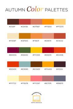 Autumn Color Palette for Graphic Web Print Design Wondernote Rgb Palette, Hex Color Palette, Color Schemes Colour Palettes, Autumn Color Palette, Graphic Design Blog, Web Design, Print Design, Couleur Html, Web Minimalista
