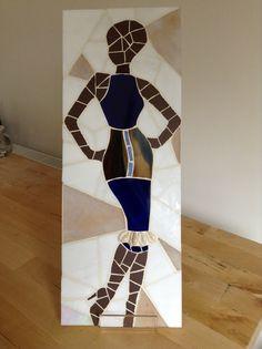 Soboye Blue. Figurative mosaic of woman. Beautiful!