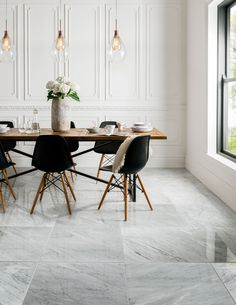 Italian in origin, this highly polished Carrara marble is an indulgent white marble with greyish veining, a perfect back drop for contemporary or classic living. Its elegant style will stand the test of time, creating a timeless look in your home. Please note this tile requires sealing.