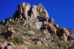 Looking at the top of Pinnacle Peak, Arizona