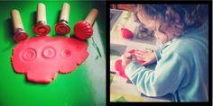 Créer des tampons à pâte à modeler avec des poignées de porte