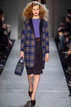 PlaidPatternBlue#Coat #Fashion #Trend forFall Winter 2013 I Marc By Marc Jacobs  #Fall2013 #trendy #print