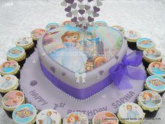Sofia the 1st http://www.cakescrazy.co.uk/details/sofia-the-first-cake-cupcakes-9464.html