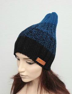 Items similar to Ribbet Beanie hat Knit winter gradient Womens slouchy knit hat Wool knit cap Gift for her Christmas gift Free shippig on Etsy Crochet Mushroom, Knit Crochet, Crochet Hats, Eco Friendly Toys, Crochet Accessories, Wool Yarn, Beanie Hats, Hand Knitting, Halloween Decorations