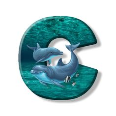 Buchstabe - Letter C Letters And Numbers, Dolphins, Symbols, Lettering, Stickers, Illustration, Kiss, Monogram, Cottage