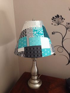 DIY Lampshade makeover for my bedroom.