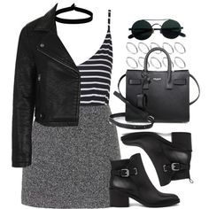 Style #11414 by vany-alvarado on Polyvore featuring Topshop, AllSaints, Yves Saint Laurent, ASOS and The Flexx