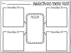 a year of many firsts: FREE adjective activities (book nook!)