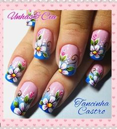 Megusta Diy Nail Designs, Colorful Nail Designs, Nail Designs Spring, Green Nail Art, Green Nails, Sassy Nails, Finger Nail Art, Mermaid Nails, Flower Nails