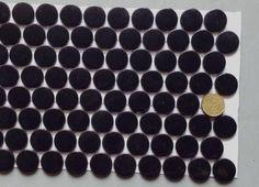 Mosaïque pâte de verre rond pastille noir ébène plaque - Achat de mosaïque salle de bain rond