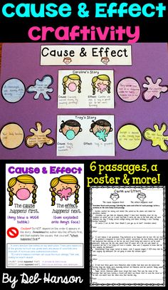 Are you looking for an unforgettable classroom activity to teach cause and effect to your students? This cause and effect activity becomes a great reading bulletin board when finished! It includes a cause and effect anchor chart! 4th Grade Reading, Student Reading, Guided Reading, Teaching Reading, Reading Comprehension Activities, Teaching Activities, Teaching Ideas, Learning Resources, Cause And Effect Activities