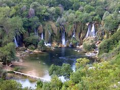 looks like Lord of the Rings was fashioned from ths exact place. ... walking around Kravica  waterfalls - Kravica, Bosniak-Croat, Bosnia & Herzegovina
