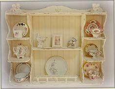 Shabby Chic Tea Cup Shelf. $180.00, via Etsy.