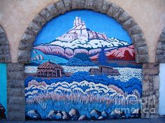 Mural painted on a wall in Kingman, Arizona. Buy prints or cards at eva-kato.artistwebsites.com