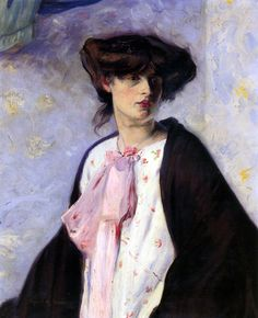 Woman with a Pink Bow-Alfred Henry Maurer