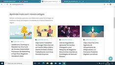 Criamos também uma página de posts em galeria de 4 colunas onde os artigos mais recentes são mostrados, podendo ser mantidos em destaque ou não.