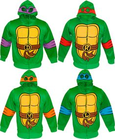 Reptiles love pizza! Are the Turtles reptiles or amphibians? Fans of the Turtles will love this officially-licensed TMNT Reptilian Print Boys Costume Hoodie. Get your Turtle on when your little guy wears this TMNT hoodie as a TMNT Halloween costume to their next Halloween school party.