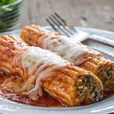 Creamy Italian Sausage Manicotti - use cottage cheese and cream cheese also half beef Sausage Pasta Sauce, Sausage Recipes, Pasta Recipes, Beef Recipes, Cooking Recipes, Cannelloni Recipes, Beef Manicotti, Al Dente, Chicken