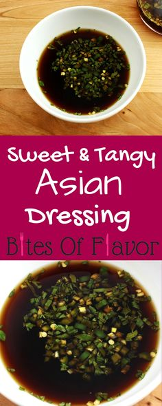 Sweet & Tangy Asian Dressing- Easy to make & great as a dressing or marinade. Fresh ingredients with no preservatives. Ww Recipes, Easy Dinner Recipes, Asian Recipes, Vegetarian Recipes, Cooking Recipes, Healthy Recipes, Thai Recipes, Sauce Recipes, Drink Recipes