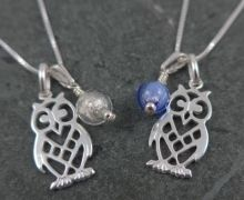 Owl and Moon Pendants. We especially love the detail on his (or her) little feet showing all the toes. We have shown them here in crystal and blue but you can have any colour 'moon' that you like Feet Show, Blue Moon, Murano Glass, Glass Jewelry, Glass Pendants, Colored Glass, Owls, Purple, Pink