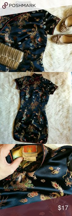 💕Beautiful Oriental Dress Oriental cocktail dress. 55% rayon 45% polyester.   🎀 I'm open to reasonable offers 🎀  🎀You receive an additional %15 off 2+ bundles.🎀 ⚡ Next Day Shipping ⚡  HAPPY SHOPPING! 🍹 Dresses Mini