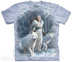 Winter Guardians T-Shirt: Wolf Gifts: FairyGlen.com